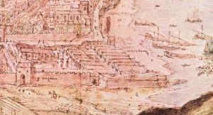 Detalle del grabado de Wyngaerden de 1563