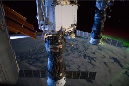 Aurora boreal captada desde la Estación Espacial Internacional. | AFP