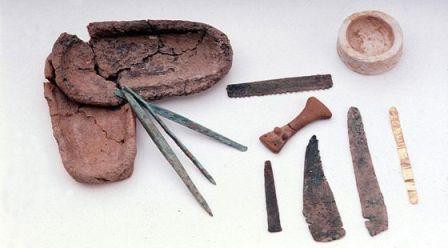 Instrumentos hallados en el yacimiento Cabezo Juré.
